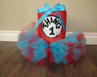 Thing 1 Dog tutu dress