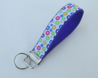 Multicolored Bubbles Keychain for Women, Cool Lanyards for Women, Bubbles Keychain Lanyard, Cute Wristlet Lanyard, Cute Key Fobs