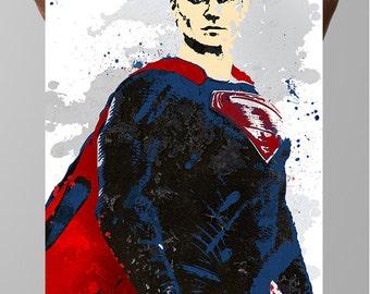 Superman Comic Poster,  Kal-El, Clark Joseph Kent, Justice League DC Comics