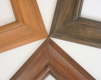 20x20 Picture Frame / Palermo style in three stained finishes (Knotty Alder)