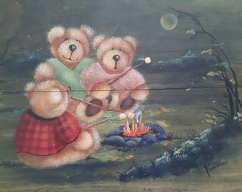 """Decorative Painting Pattern Packet """"Camping Bears"""""""