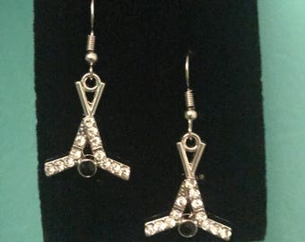 Hockey Stick and Puck earrings