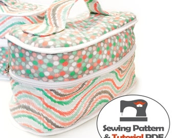 Cosmetic Bag - Instant Download Sewing Pattern & Instructions