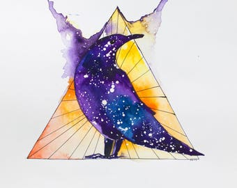 Cosmic Crow: print