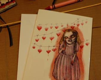 My Bloody Valentine Card by Kamila Mlynarczyk Woodedwoods