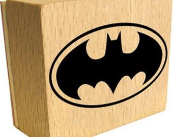 Batman Logo Rubber Stamp