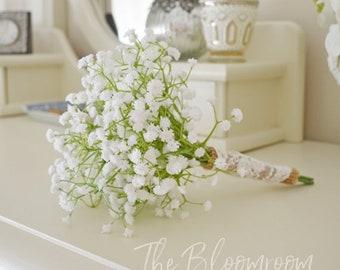 Flower girl bouquet, Baby's breath posy, Silk bridal bouquet, Weddings, Decoration, Rustic bouquet, Country bouquet, Madeline FGP