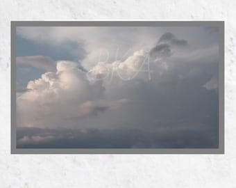 Cloud Art Print, Cloud Photo, Sky Print, Sky Photo, Unframed