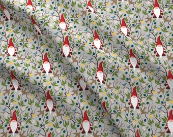 Woodland Gnomes Fabric - Gnome By Dearchickie - Gnomes Winter Elf Forest Magical Design Challenge Cotton Fabric By The Yard With Spoonflower
