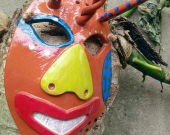 Ceramic Vejigante mask