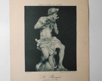 Ancient Art Print, The shepherd, Coysevox, Louvre Museum
