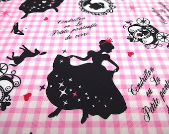 SALE Japanese Fabric LECIEN Girl's Story Cinderella Pink Fat Quarter