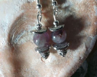 1350 - earrings with fluorite beads and silver