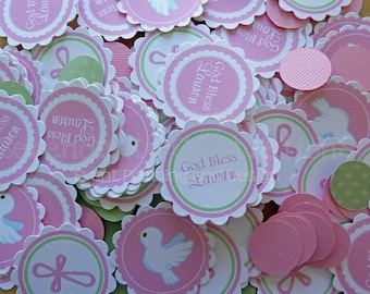 Personalized Table Confetti -Communion-Table Minis -Party -Birthday -Baby Shower -God Bless -Baptism -Christening -Confirmation
