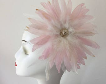 Chic Feather Fascinator Hair Clip Wedding Stage Party Costume Headpiece