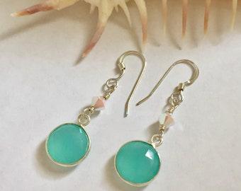Sterling Silver Chalcedony Earrings