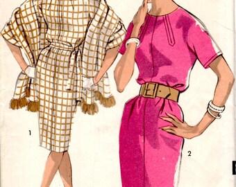 Bust 33-1950's Junior Dress and Stole  Advance 2968  Sz 13