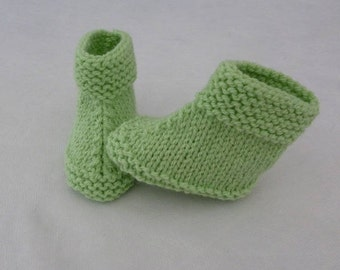 hand knitted wool baby booties