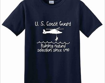 "U.S. Coast Guard - ""Natural Selection"" Heavy Cotton T-Shirt"