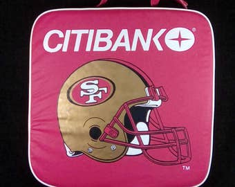 Vintage SF 49ers Football Stadium Seat Cushion, Opening Day 9/14/97, Old School Football, Football Collectible, San Francisco 49ers