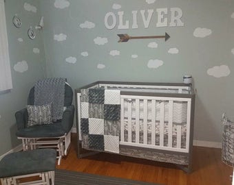 Nursery Crib Bedding, Bed Set, Gender Neutral Baby Bedding