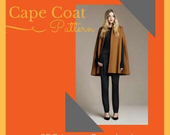 Popular Cape Coat PDF Pattern