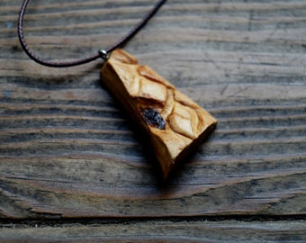 Ciryon - Olive and pine wood handcrafted pendant