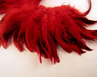 Red eggshell Schlappen Feathers 4 to 6 inches