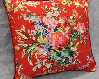 Square Accent Pillow - Floral Pillow