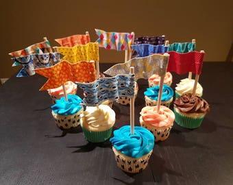 Cupcake Flags - Set of 3