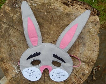 Felt rabbit mask