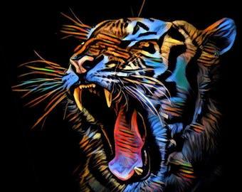 Tiger - A Digital Print