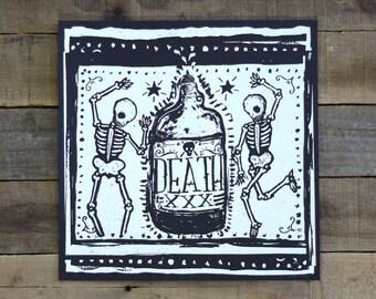 Death Skeletons Screen Print