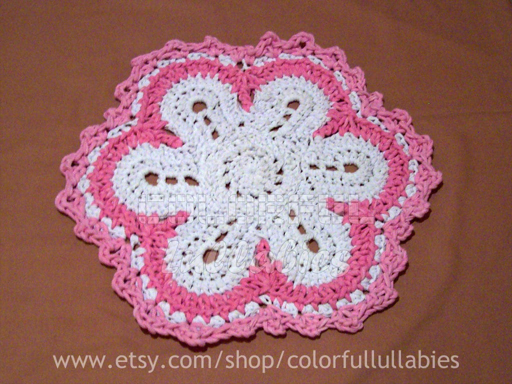 Flower rag rug. PDF Crochet Pattern. XL crochet with t-shirt yarn ...