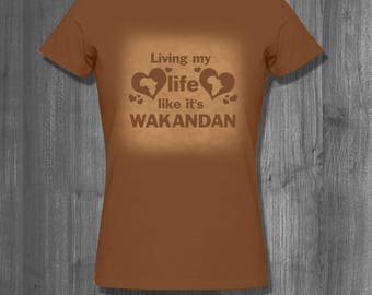 Living Wakandan T shirt tops and tees t-shirts t shirts| Free Shipping