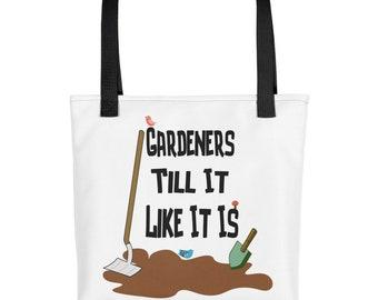 Funny Gardening Tote Bag | Gardening Pun Bag | Gardener's Tote Bag