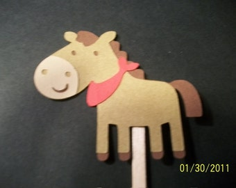 Horse cupcake toppers- set of 24