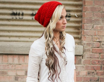 Slouchy Beanie - Handmade Crochet Hat. Many Colors Available!!
