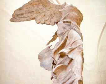 "16x20"" Large Print - Paris Photography - Winged Victory - French sculpture - Guardian Angel - Fine Art photo - dreamy - BW - Color"