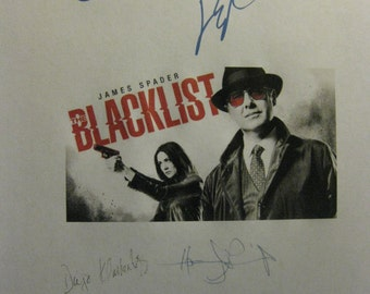 Blacklist Signed TV Screenplay script X6 Autograph James Spader Megan Boone Diego Klattenhoff Ryan Eggold Harry Lennix Chance Kelly
