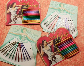 1 Vintage Pack of Colorful Hairpins