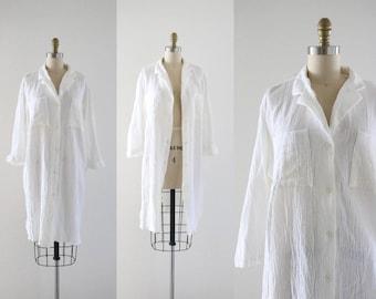 white gauze dress / jacket