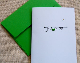Baby clothes cards/set of 8