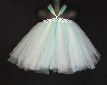 Mint and Light Blue TuTu Skirt/ TuTu Dress for Birthdays/ Photo Shoots/ Weddings