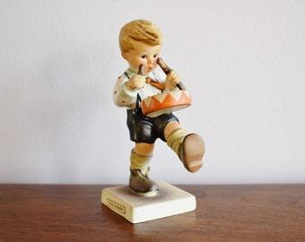 1955 Goebel Hummel Little Drummer Boy Porcelain Figurine, Full Bee Mark, #240 West Germany, Baby Shower Christmas Gift, Drumming Boy Statue