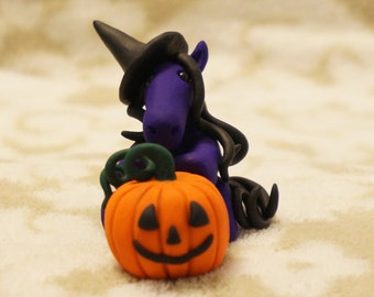 Made to order Handmade Witch Horse with pumpkin