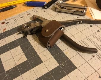 Leather zippo lighter case