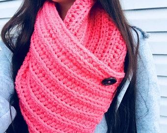 Mertensia crochet cowl