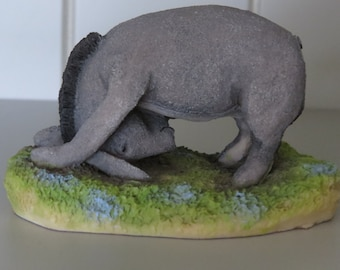 Eeyore figurine from Winnie-the-Pooh - W129.  Vintage collectible figurine/ornament.