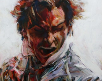 Patrick Bateman #1 from American Psycho (2000), Acrylic Painting 24 x 24in